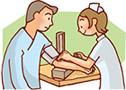 血圧測定のイラスト